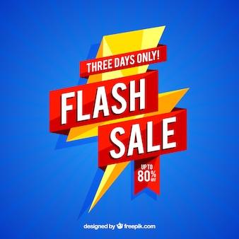 Fond de vente flash moderne créative