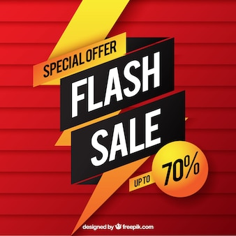 Fond de vente flash rouge dans le style dégradé