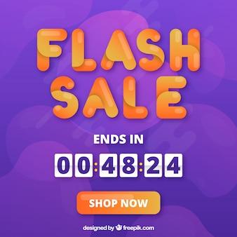 Fond de vente flash