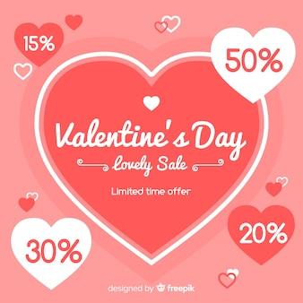 Fond de vente grand coeur saint valentin