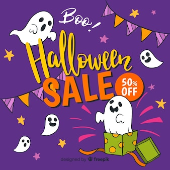 Fond de vente de halloween coloré
