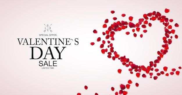Fond De Vente Happy Valentines Day. Vecteur Premium