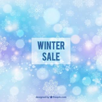 Fond de vente hiver bokeh