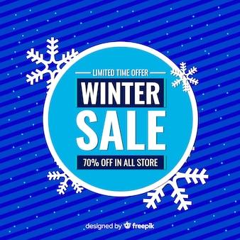 Fond de vente hiver grand cercle