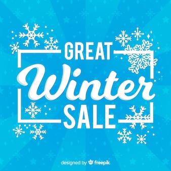 Fond de vente d'hiver