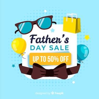 Fond de vente de jour de pères dessinés à la main