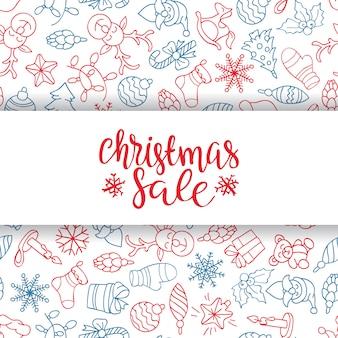 Fond de vente joyeux noël. élément de décoration parfait pour les cartes, invitations et autres