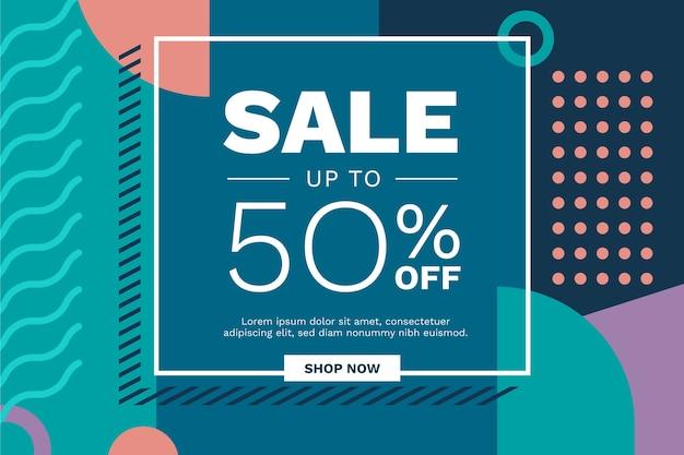 Fond de vente minimaliste