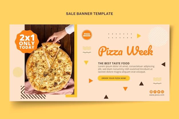 Fond de vente de nourriture plate