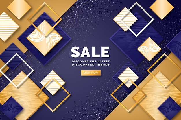 Fond de vente d'or de luxe