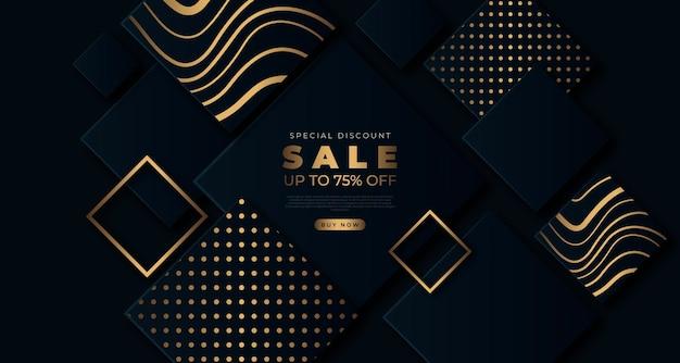 Fond de vente d'or luxueux
