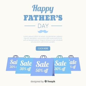 Fond de vente plat fête des pères