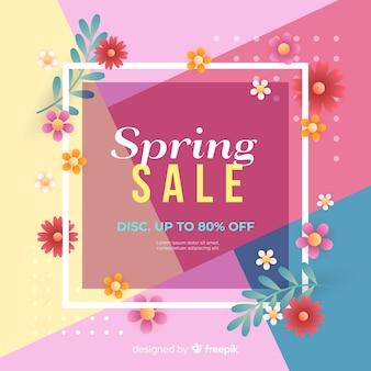 Fond de vente de printemps coloré