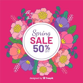Fond de vente printemps couronne florale