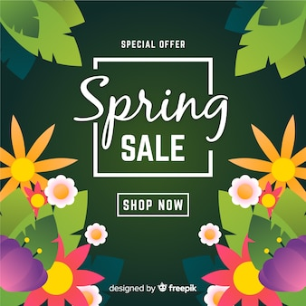 Fond de vente de printemps dégradé
