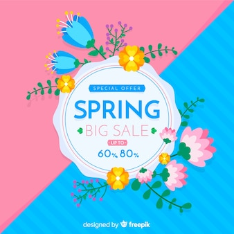 Fond de vente de printemps divisé