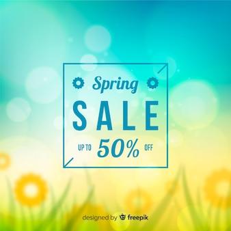 Fond de vente de printemps flou