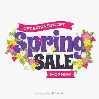 Fond de vente de printemps plat