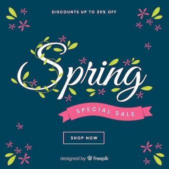 Fond de vente de printemps sombre