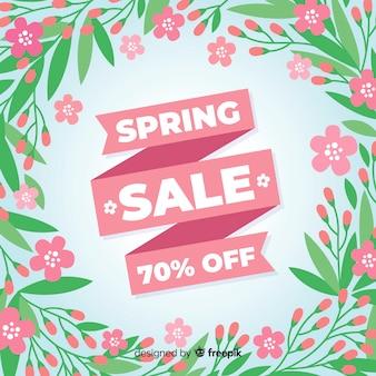 Fond de vente de printemps