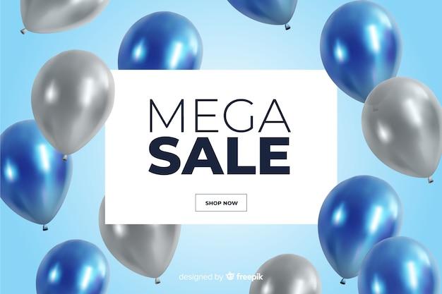 Fond de vente réaliste avec des ballons