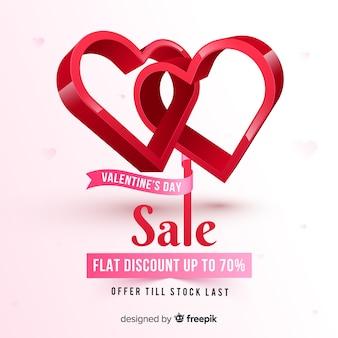 Fond de vente réaliste saint valentin