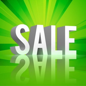 Fond de vente réfléchi vert