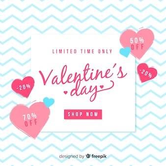 Fond de vente de saint valentin