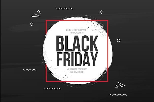 Fond de vente vendredi noir avec bannière splash