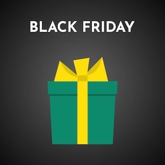 Fond de vente vendredi noir avec boîte-cadeau. modèle de brochure ou de bannière. illustration vectorielle