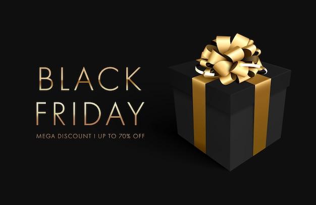 Fond de vente vendredi noir avec boîte-cadeau