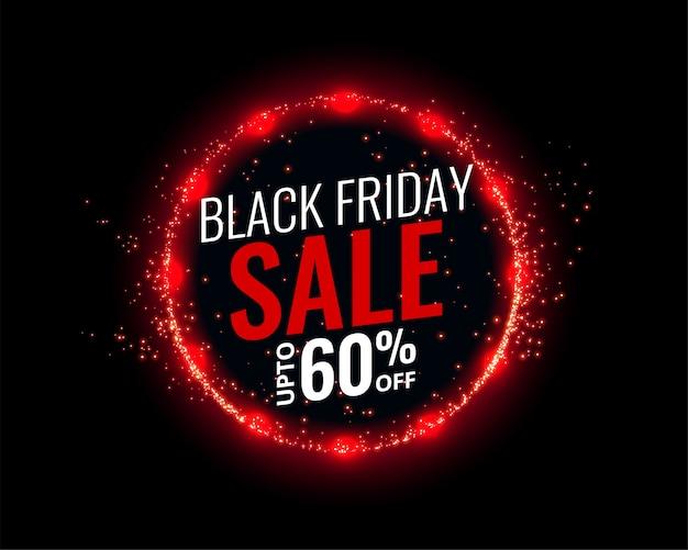 Fond de vente vendredi noir avec effet de lumières rouges
