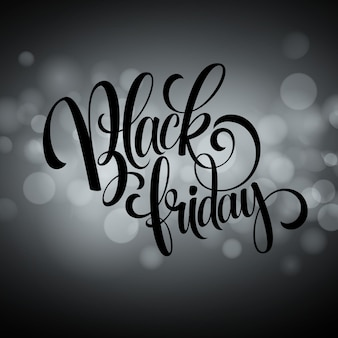 Fond de vente vendredi noir. fond de bokeh de lumières. illustration vectorielle eps10