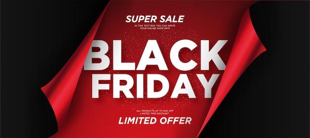 Fond de vente vendredi noir avec papier réaliste