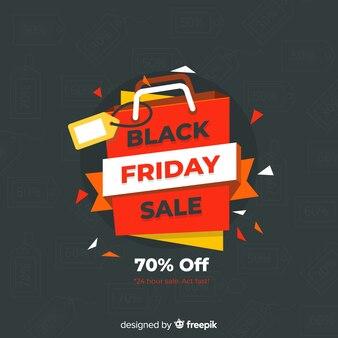 Fond de vente vendredi noir avec sac à provisions