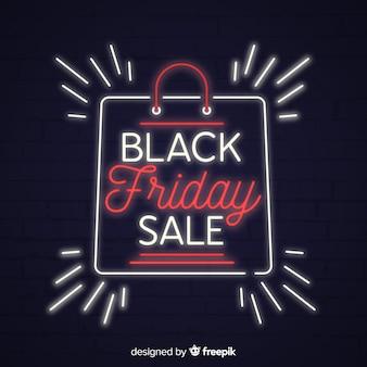Fond de vente vendredi noir avec style néon