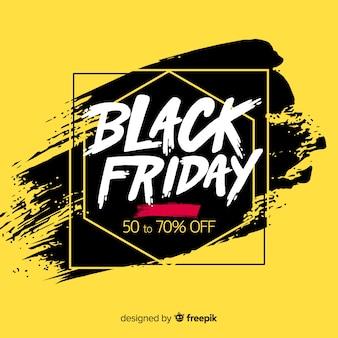 Fond de vente vendredi noir avec typographie