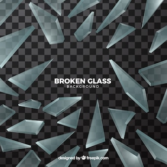 Fond de verre brisé dans un style réaliste
