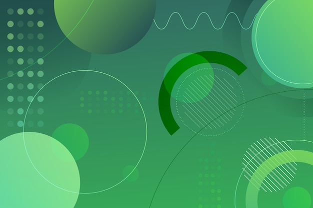 Fond vert abstrait géométrique