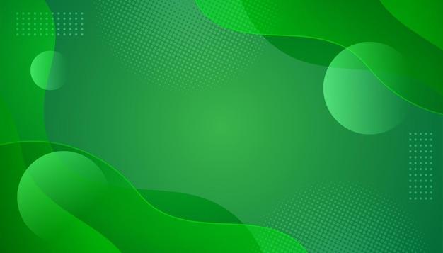 Fond vert abstrait moderne avec forme fluide