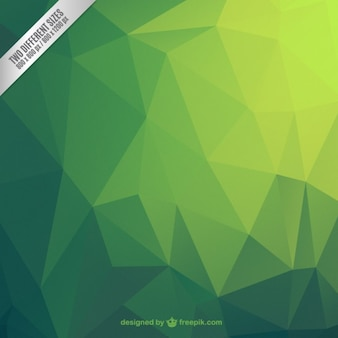 Fond vert abstraite polygonale