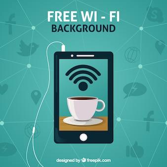 Fond vert de l'appareil avec wifi gratuit