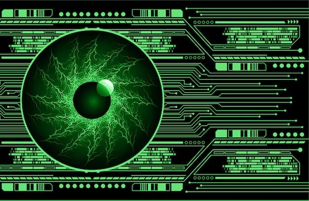 Fond vert concept futur technologie cyber œil