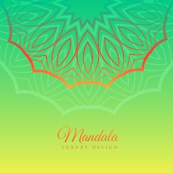 Fond vert avec décoration de mandala