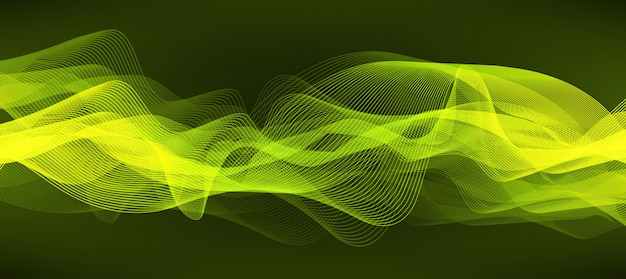 Fond vert doux d'ondes sonores