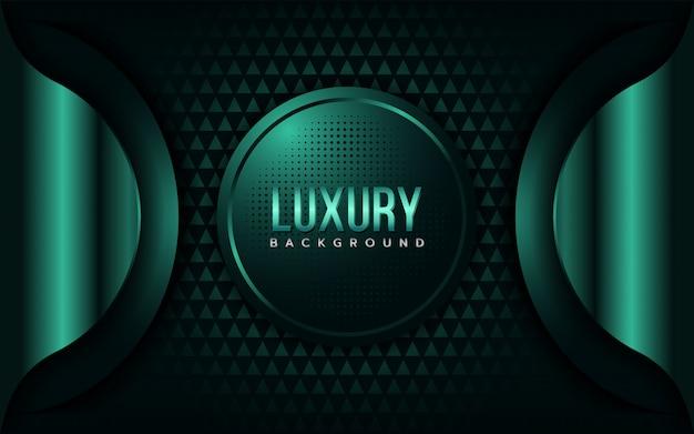 Fond vert émeraude de luxe