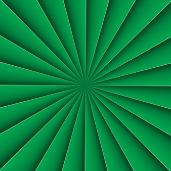 Fond vert en éventail de forme abstraite avec ligne de pliage