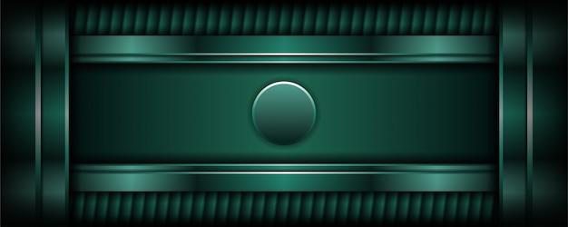 Fond vert foncé de luxe abstrait avec couche de chevauchement