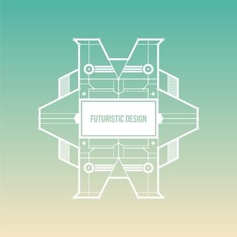 Fond vert gradient avec un design futuriste