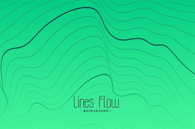 Fond vert avec lignes de contour noires